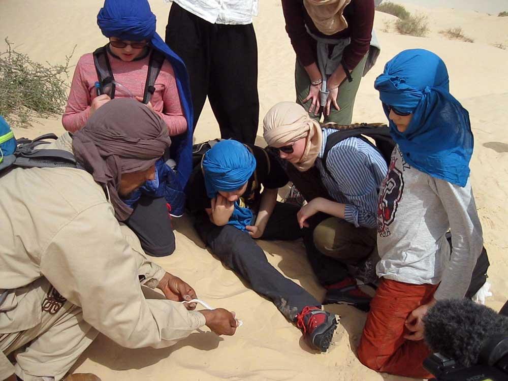 Le guide fait decouvrir la faune du desert bassdef au dela du regard